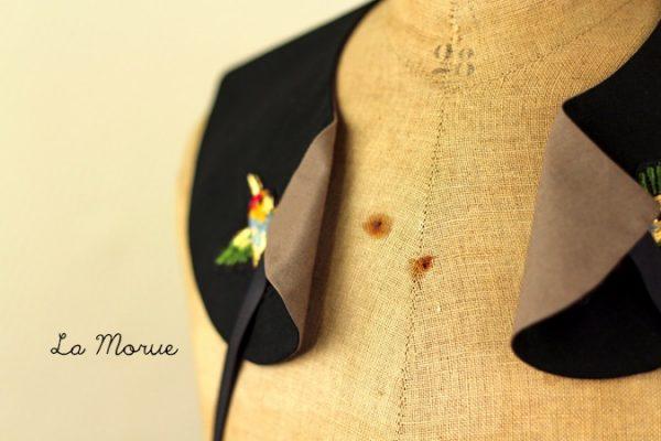 La Morue : col claudine Jules / broderies colibri