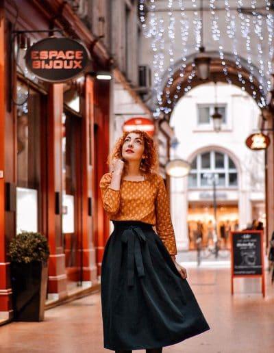La Morue vêtements féminins : blouse fluide moutarde Flaviane