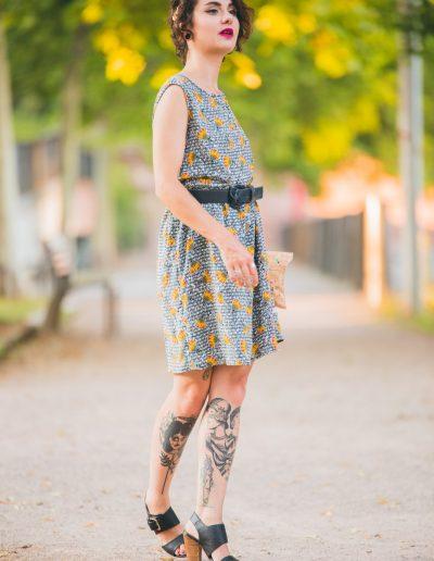 La Morue : vêtements féminins/robe wax Charlotte