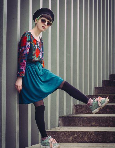 La Morue : vêtements féminins / blouse Eden et jupe Preppy