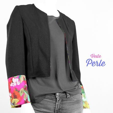 La Morue : vêtements féminins bretons / veste Perle