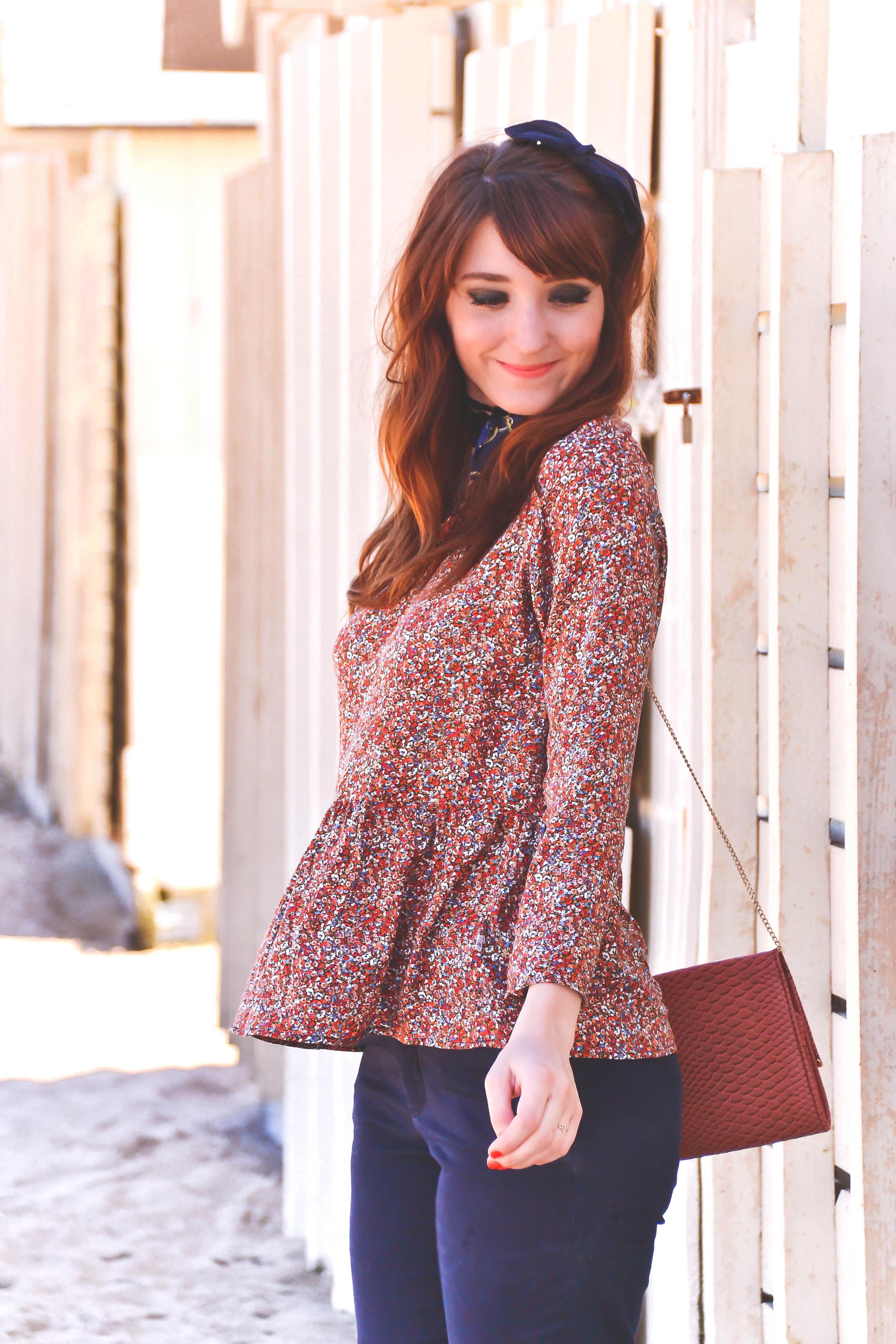 La Morue : blouse froufrou Gwendoline